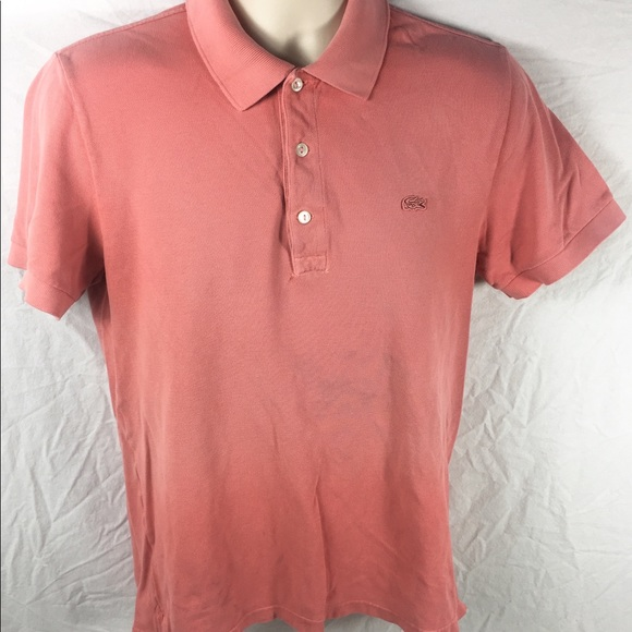 7a31891ef Lacoste Other - Lacoste Vintage Washed Pink Salmon Embroidered